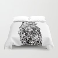 otter Duvet Covers featuring Otter by Meredith Mackworth-Praed