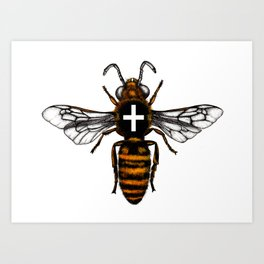 Cornish Bee Art Print