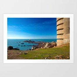 Jersey Coastal Scenery Art Print