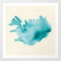 iceland Art Prints featuring Iceland by Kristjan Lyngmo