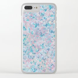 Scattered Flowers Clear iPhone Case