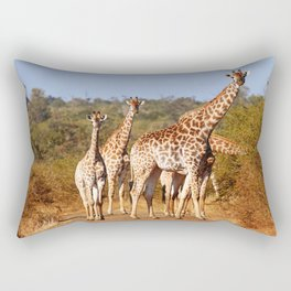 Giraffes in South Africa, wildlife Rectangular Pillow