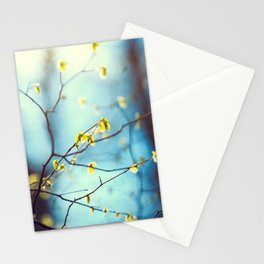 Fresh green Leaves Stationery Cards