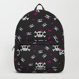 Gothic Girly Skulls Backpack
