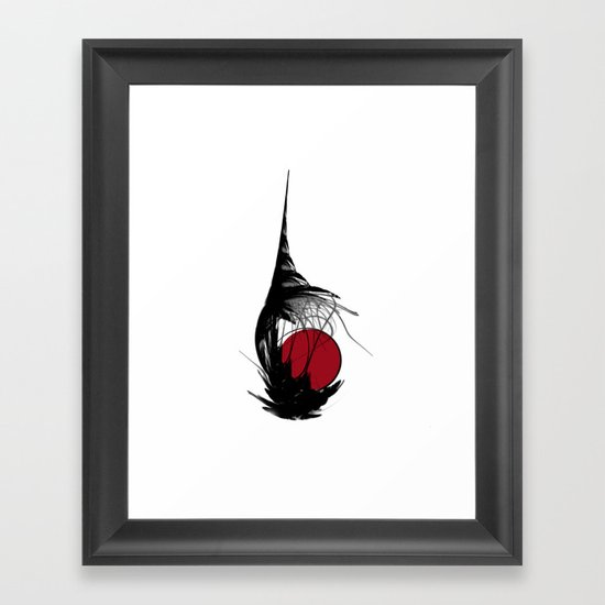 Asian Sun Framed Art Print