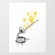 Music Maker Art Print