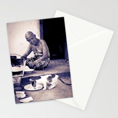 Wat man and his cat Stationery Cards