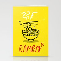 ramen Stationery Cards featuring RAMEN by OHOO SIX