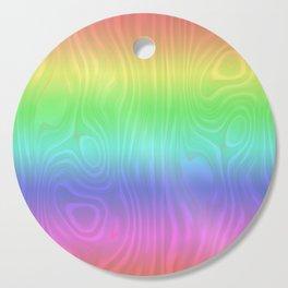 Groovy Pastel Rainbow Cutting Board