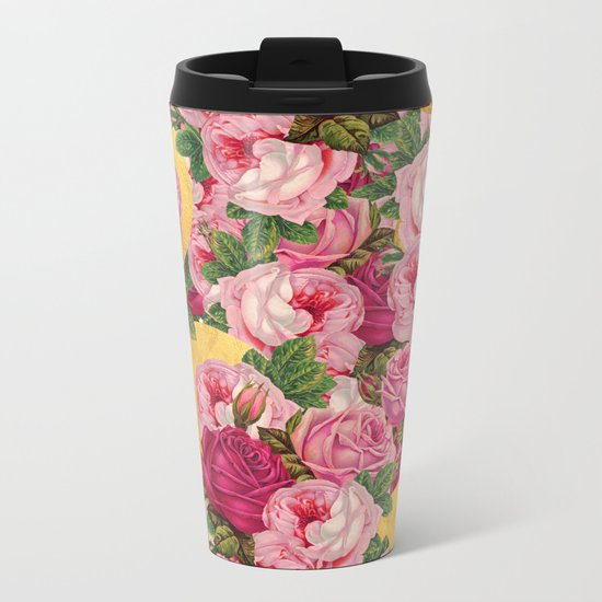 Rosy Gold Metal Travel Mug