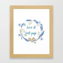Love at first page Framed Art Print