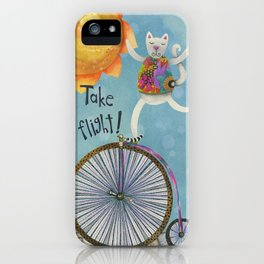 Take Flight With The Sun On Your Face iPhone Case