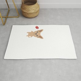 I Kissed A Chihuahua And I Liked It Cute Dog Kiss Gift Idea Rug