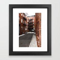 Boston North End Framed Art Print