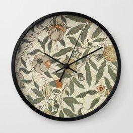 Modern poster-William Morris-Vegetable print 1. Wall Clock