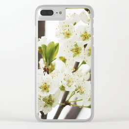 Plum Tree Blossom Clear iPhone Case