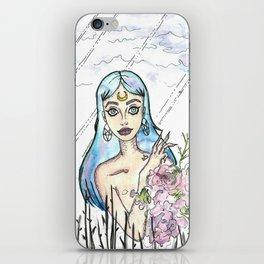 Freaky Flower girl iPhone Skin