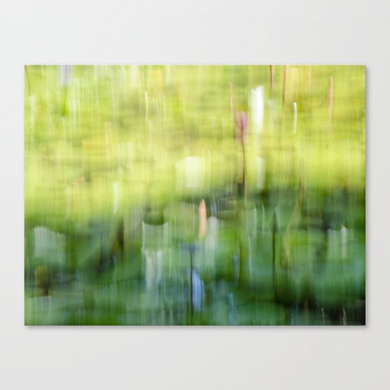 Tropical Impressionism - Lily Pond Canvas Print