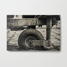 Old Rusty Dusty Flat Tire Metal Print