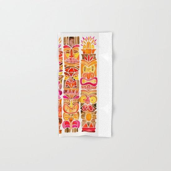 Tiki Totems – Fiery Palette Hand & Bath Towel