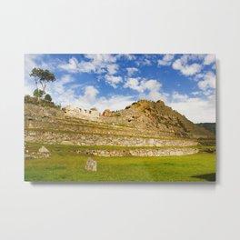 Machupicchu Sanctuary landscape Metal Print