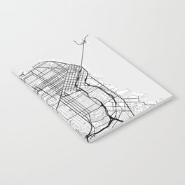 Scandinavian map of San Francisco Penninsula Notebook