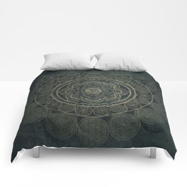 Circular Connections Comforters
