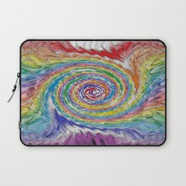 A Colorful Splatter Laptop Sleeve