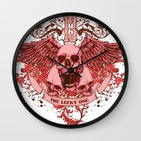friday Wall Clocks featuring Friday by Tshirt-Factory