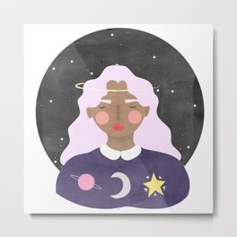 Little Space Kid Metal Print