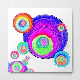 Colorful Secret Geometry | painting by Elisavet #society6 Metal Print