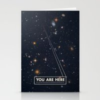 card Stationery Cards featuring THE UNIVERSE - Space | Time | Stars | Galaxies | Science | Planets | Past | Love | Design by Mike Gottschalk