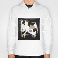 cow Hoodies featuring cow by woman