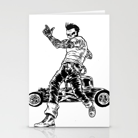 Dead Racer Stationery Cards