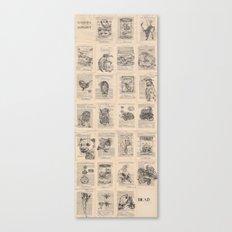 The Dead Alphabet Canvas Print