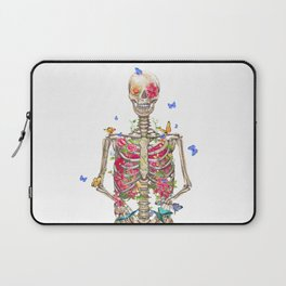 Blooming skeleton on the white background  Laptop Sleeve