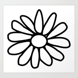 Imperfect Daisy Outline Art Print