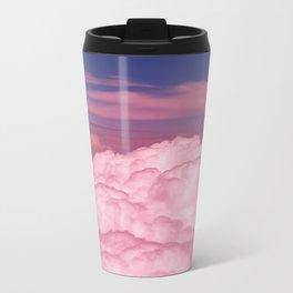 Pink Cotton Candy Clouds Metal Travel Mug