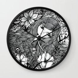 mad girl garden Wall Clock