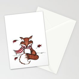 Holiday Fox Stationery Cards