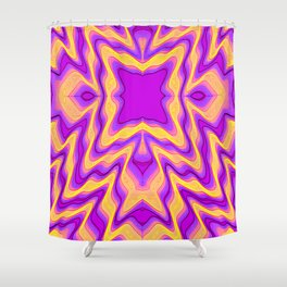 yellow purple Shower Curtain