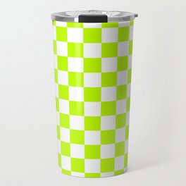 Checker (Lime/White) Travel Mug