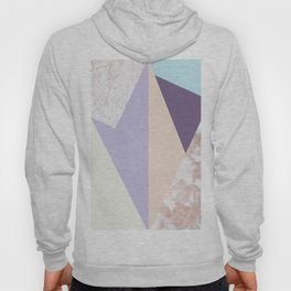 Geometrical faux rose gold pastel colors colorblock Hoody