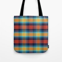 plaid Tote Bags featuring Plaid by Sierra Neale