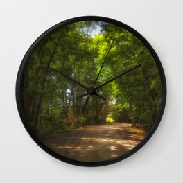 Morning Light on the Backroads Wall Clock