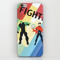 fight iPhone & iPod Skins featuring FIGHT! by Lena Lang