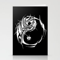 yin yang Stationery Cards featuring Yin Yang by David T Eagles