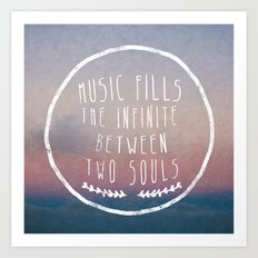 I. Music fills the infinite Art Print