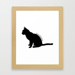 Cat Person Framed Art Print