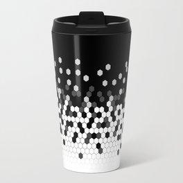 Flat Tech Camouflage Black and White Travel Mug